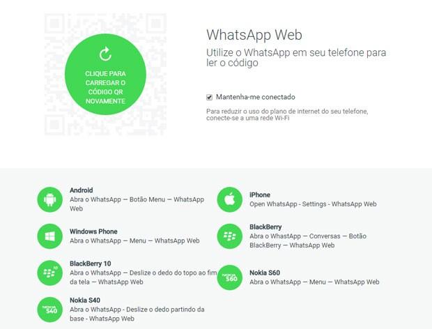 Uso do WhatsApp em computadores é liberado para donos de iPhones. (Foto: Reprodução/WhatsApp)