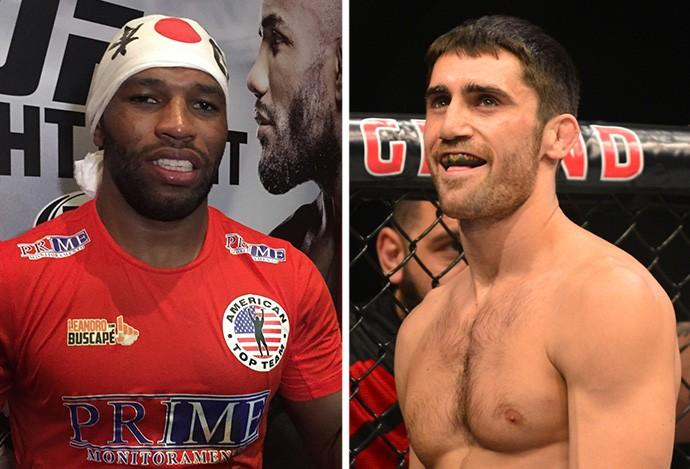 MONTAGEM - Leandro Buscapé e Jason Saggo UFC (Foto: Editoria de Arte)