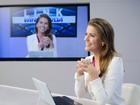 Elisa Veeck, ex-'Chiquititas', mostra rotina como âncora de telejornal