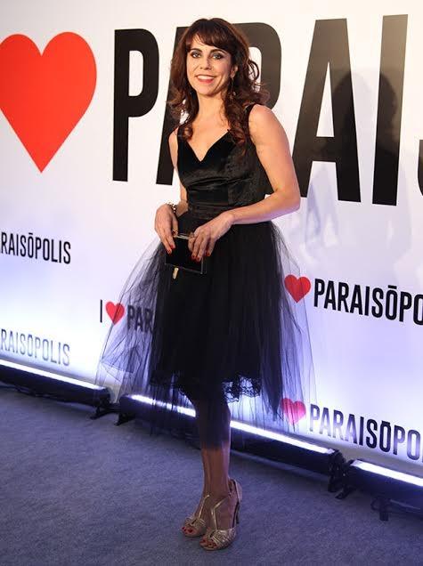 Paula Cohen também apostou no preto!  (Foto: Fabiano Battaglin/ Gshow)
