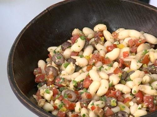 Salada de Feijão-branco com Bacon