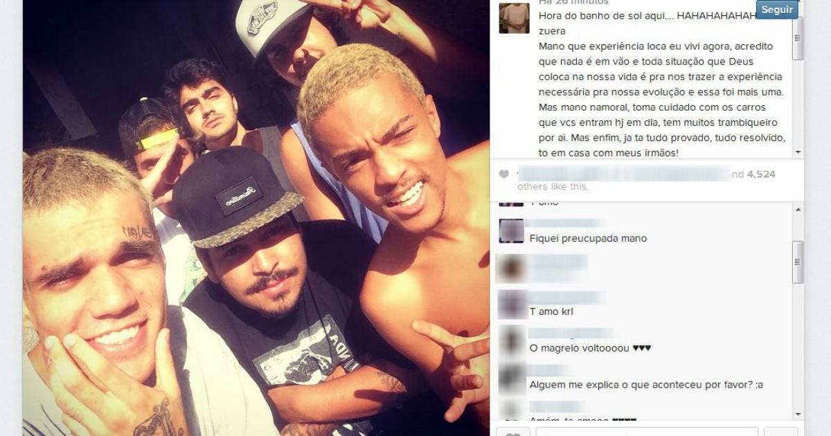Em liberdade provisória, vocalista da Pollo se manifesta em redes ... - Globo.com