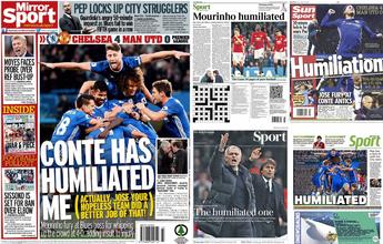 """Após criticar Conte à beira do campo, Mou vira """"o humilhado"""" para jornais"""