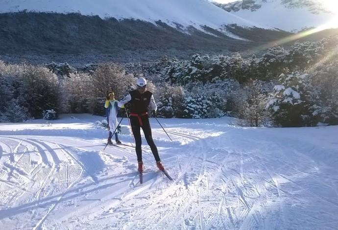 Esqui cross country treino argentina (Foto: Divulgação/CBDN)