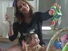 Deborah Secco celebra crescimento da filha, Maria Flor: 'Está uma moça'
