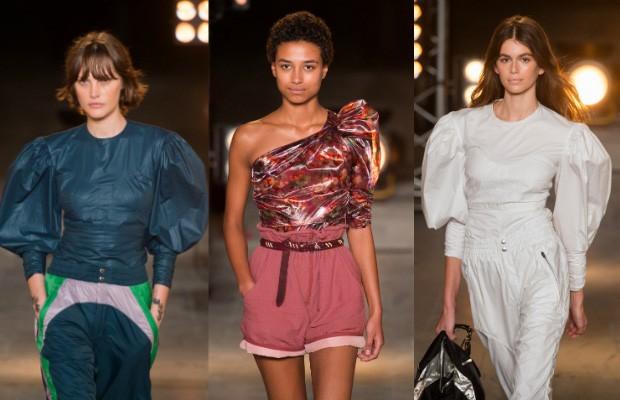 A manga presunto apareceu no desfile de Isabel Marant na semana de moda de Paris (Foto: Imaxtree)