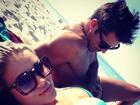 Aryane Steinkopf e Beto Malfacini curtem praia em Miami