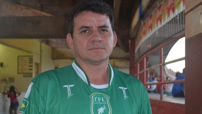Sandicley Monte, presidente do Tapajósq (Foto: Weldon Luciano/GloboEsporte.com)