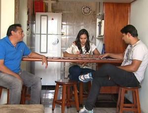 Família de Laís Souza, em Ribeirão Preto (Foto: Valdinei Malaguti / EPTV)