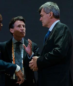 Sebastian Coe e Nick Davies (Foto: Getty Images)