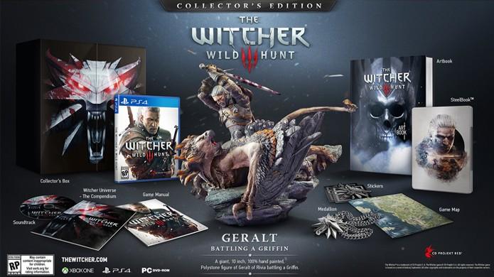 Edição de colecionador de The Witcher 3: Wild Hunt traz uma série de extras (Foto: Divulgação)