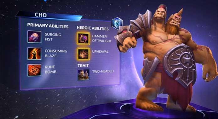 Cho'Gall, ogro de duas cabeças de Heroes of the Storm e suas habilidades  (Foto: Reprodução/Blizzard)