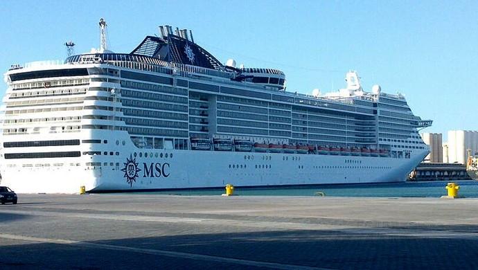 torcida México navio fretado (Foto: Gioras Xerez / G1)