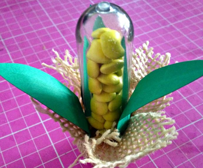 Tubete de Milho Verde é dica de decoração para a Festa Junina (Foto: Arquivo Pessoal)