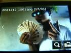Vídeo mostra assaltantes de lotérica agindo e exibindo dinheiro roubado
