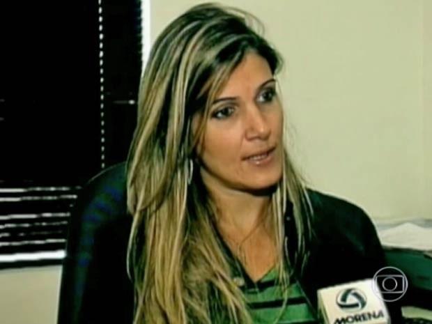 Em imagem de arquivo, Larissa, mulher do ex-médico Roger Abdelmassih (Foto: Reprodução/TV Globo)