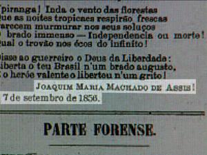 Texto foi encontrado por professor da UFSCar em jornal antigo em São Carlos (Foto: Reprodução/EPTV)