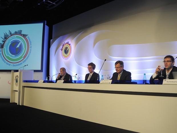 Propriedade intelectual em tempos digitais foi tema de debate neste sábado na SIP (Foto: Flavio Moraes/G1)