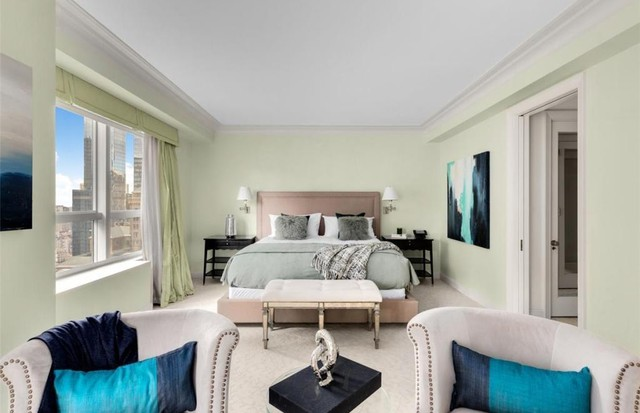 A suíte do apartamento de Adriana Lima (Foto: Reprodução)