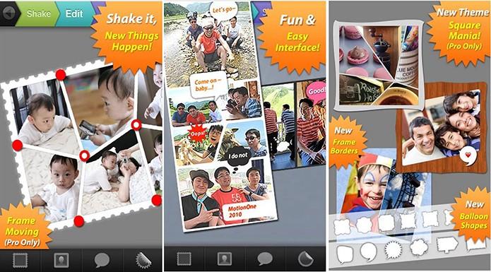 Photoshake! tem suporte a Android antigos e oferece personalização de borda e imagens (Foto: Divulgação/Play Store)