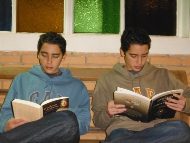 Irmãos gêmeos se preparam para Olimpíadas (Foto: Adriana Heringer Gomes/Arquivo Pessoal)