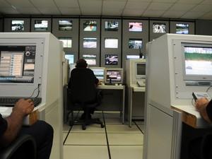 Central de Monitoramento de Praia Grande, SP (Foto: Divulgação/Prefeitura de Praia Grande)