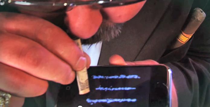 iSnort é um aplicativo que faz apologia ao uso de cocaína (Foto: Divulgação/iSnort)