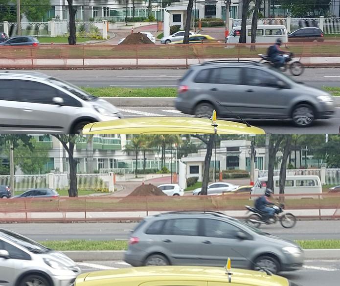 Imagens em movimento ficam mais nítidas com o Galaxy S6 do que com o S5 (Foto: Arte/TechTudo)