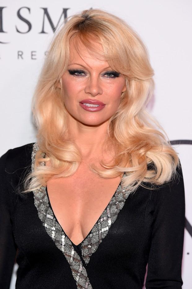 Pamela Anderson em evento em Nova York, nos Estados Unidos (Foto: Michael Loccisano/ Getty Images/ AFP)
