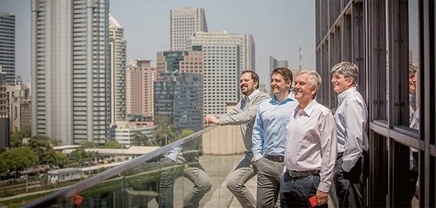Empresa;Telefonia;Davi Fraga, James Lynch, Yon Moreira e Luiz Quintão (da esq. para a dir.);EUTV (Foto: Anna Carolina Negri)