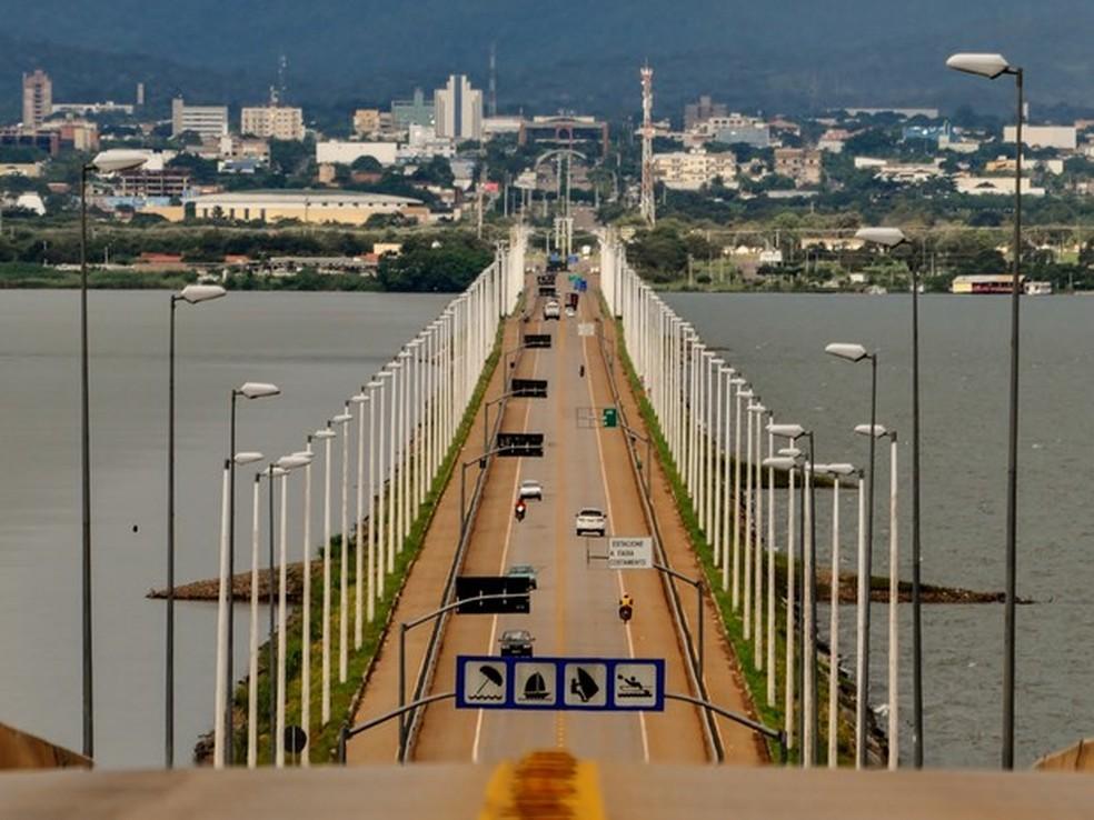 Ponte Fernando Henrique Cardoso liga Palmas a Paraíso do Tocantins (Foto: Clóvis Cruvinel/Divulgação)