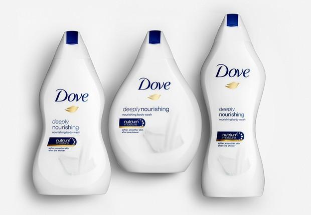 Campanha da Dove Real Body Bottles mostra diferenças entre corpos já na embalagem (Foto: Reprodução/Twitter)