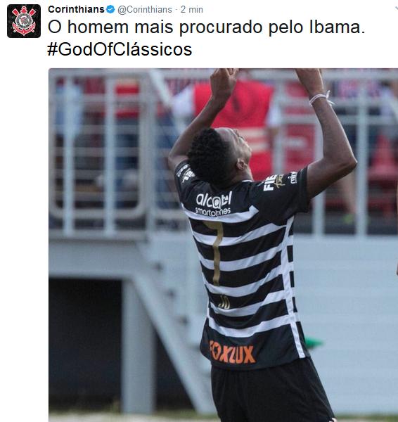 Corinthians provoca no Twitter - Jô