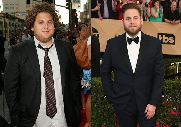 Antes e depois de Jonah Hill (Foto: Getty Images)