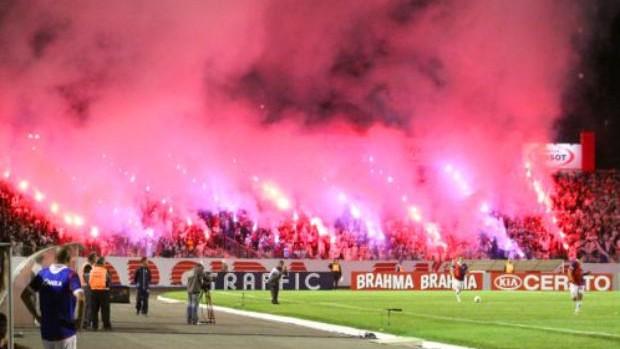 Torcida do Paraná faz a festa na classificação da Copa do Brasil (Foto: Divulgação/site oficial do Paraná Clube)