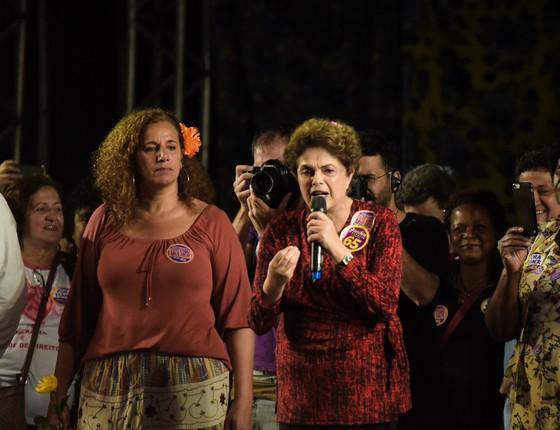 Jandira e Dilma (Foto: Agencia O Globo)