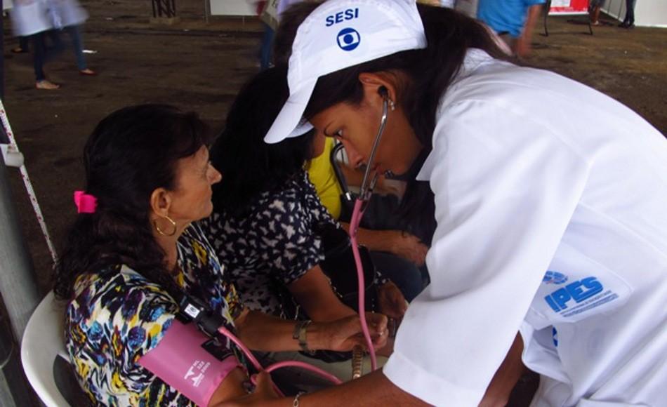 Ação Global em Cachoeiro de Itapemirim (ES) (Foto: Ludmila Nascimento)