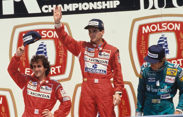 A histórica rivalidade com o corredor francês, Alain Prost é um dos pontos altos do documentário 'Senna' (Foto: Divulgação)