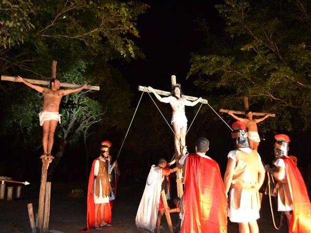 Encenação em Agudos é realizada há 30 anos (Foto: divulgação / prefeitura de Agudos)