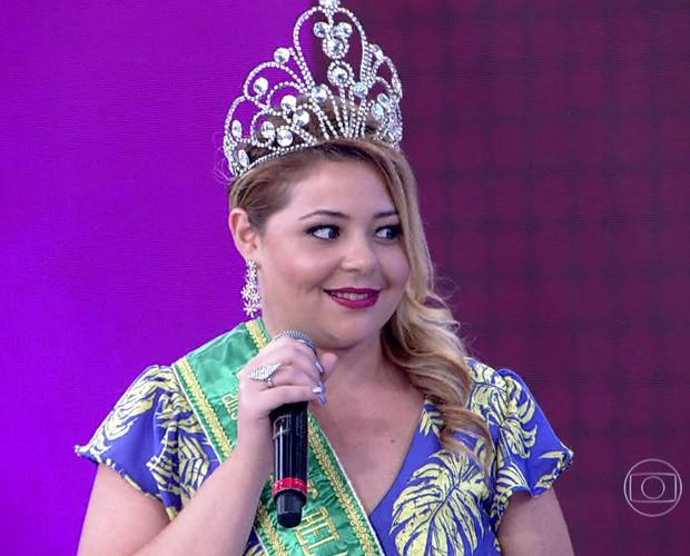 Milian Aquarelo diz que sofreu muito na escola por ser gordinha (Foto: TV Globo)