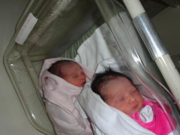 Nascem em Goiânia gêmeas geradas no útero da avó Maria da Glória, de 52 anos (Foto: Reprodução/Facebook)