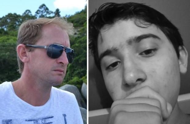 Edivan e Elian morreram afogados em Bombinhas (Foto: Montagem/G1)
