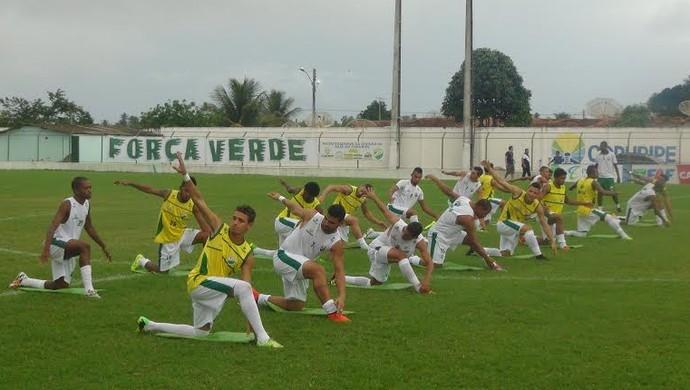 Coruripe treino (Foto: Leonardo Freire/GloboEsporte.com)