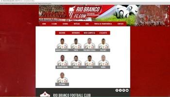 Site oficial do Rio Branco-AC (Foto: Duaine Rodrigues)