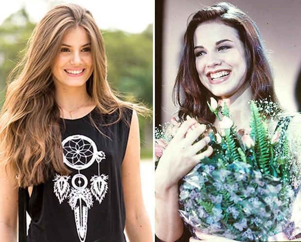 Angel x Angel: Camila Queiroz, em Verdades Secretas (esquerda), e Luana Piovani, em Sex Apple (direita) (Foto: Gshow / CEDOC / TV Globo)
