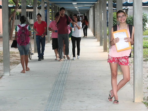 Milena vai deixar Campo Grande para estudar na UFS (Foto: Jorge Henrique/G1)