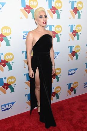 Lady Gaga em festa em Nova York, nos Estados Unidos (Foto: Jamie McCarthy/ Getty Images/ AFP)