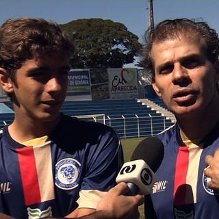 Túlio Maravilha e Túlio Filho (Foto: Reprodução / TV Anhanguera)