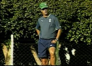 Caio Júnior como técnico do Goiás em 2008 (Foto: Reprodução/TV Anhanguera)