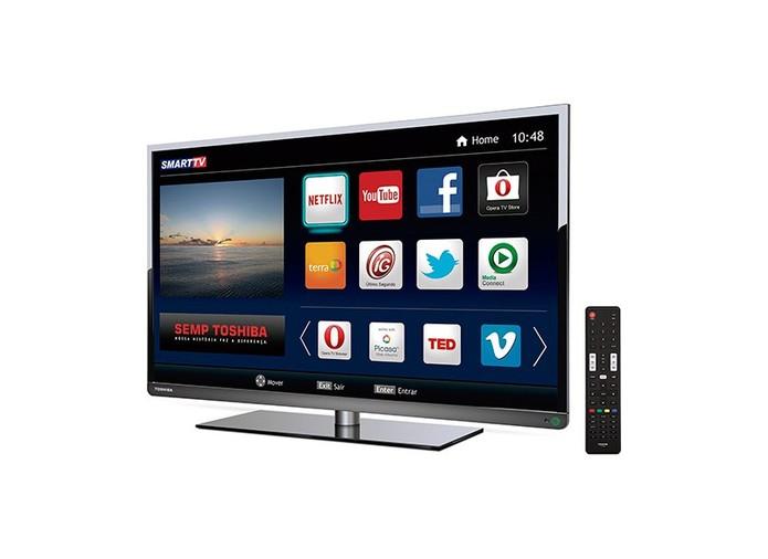 Smart TV LED de 40 polegadas tem acesso a aplicativos e arquivos (Foto: Divulgação)